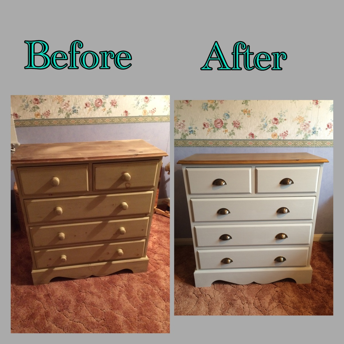 pine chest of drawers makeover paintobsessed. Black Bedroom Furniture Sets. Home Design Ideas