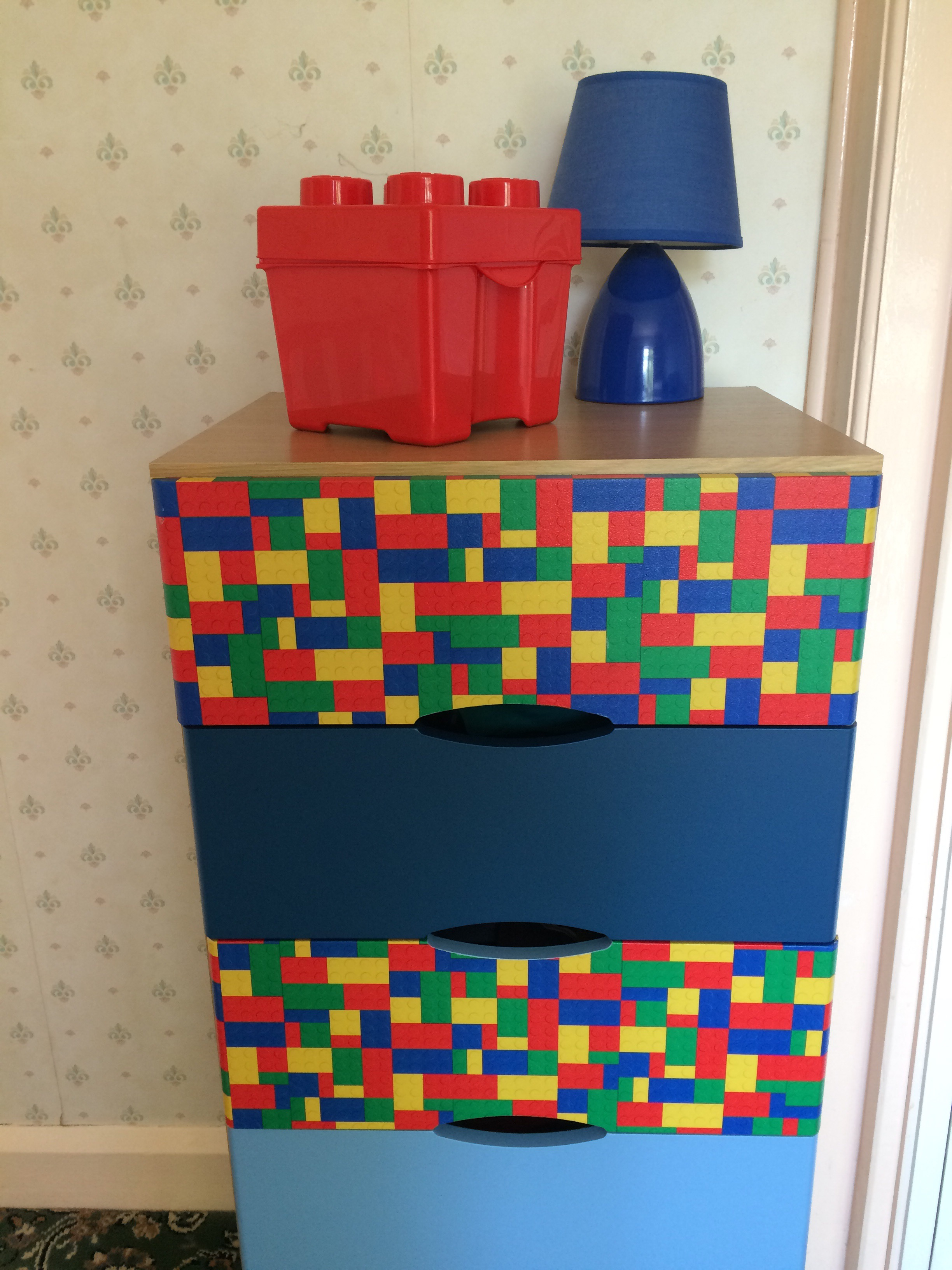 Lego Decoupage chest of drawers